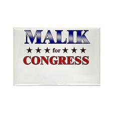 MALIK for congress Rectangle Magnet