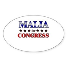 MALIA for congress Oval Decal