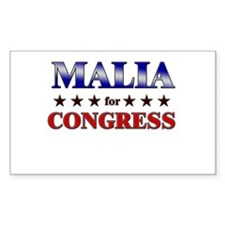 MALIA for congress Rectangle Decal