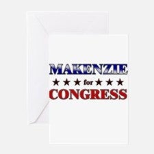 MAKENZIE for congress Greeting Card