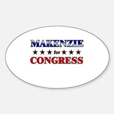MAKENZIE for congress Oval Decal