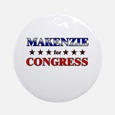 MAKENZIE for congress Ornament (Round)