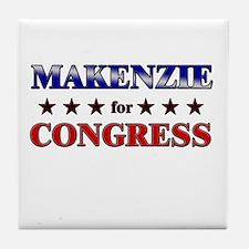 MAKENZIE for congress Tile Coaster