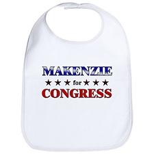 MAKENZIE for congress Bib
