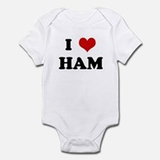 I Love HAM Infant Bodysuit
