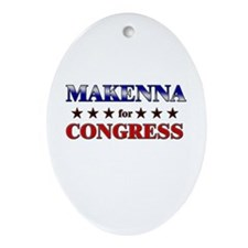 MAKENNA for congress Oval Ornament