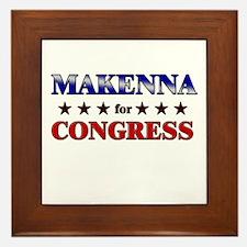 MAKENNA for congress Framed Tile