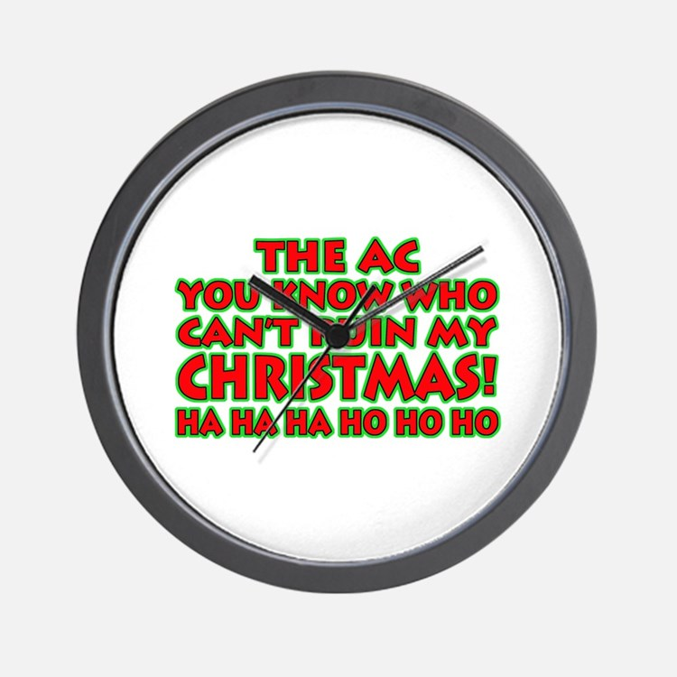 Support Christmas! Wall Clock