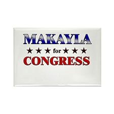 MAKAYLA for congress Rectangle Magnet