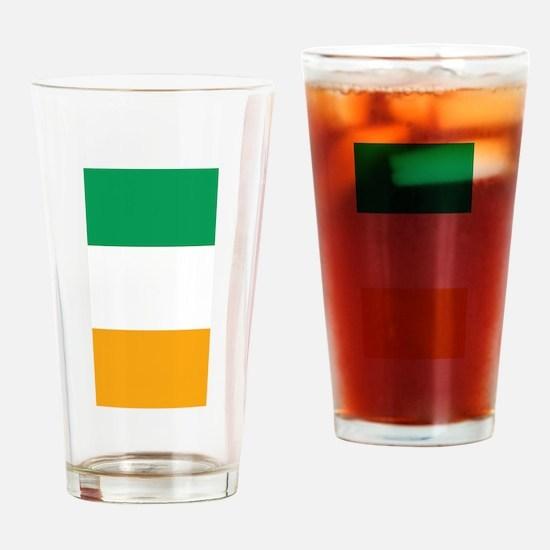 Vertical Irish Tricolour -- the fla Drinking Glass
