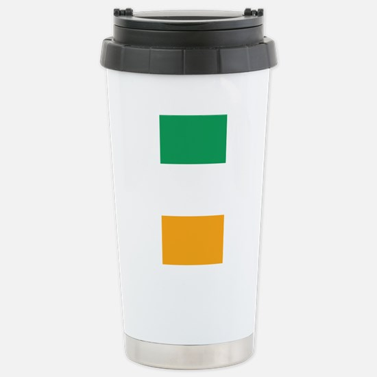 Vertical Irish Tricolou Stainless Steel Travel Mug