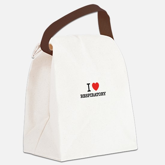 I Love RESPIRATORY Canvas Lunch Bag