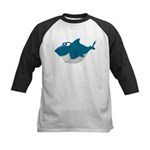 Cute Shark Kids Baseball Jersey