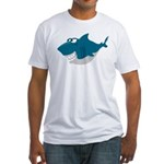 Cute Shark Fitted T-Shirt