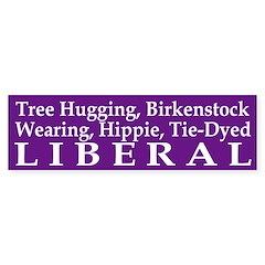 Tree Hugging, Birkenstock Liberal (sticker)
