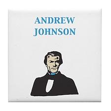 Andrew Johnson Tile Coaster