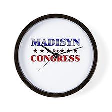 MADISYN for congress Wall Clock