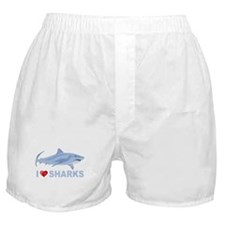 I Love Sharks Boxer Shorts