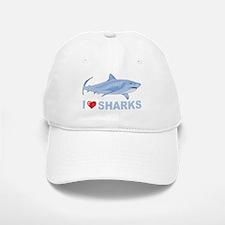 I Love Sharks Baseball Baseball Cap