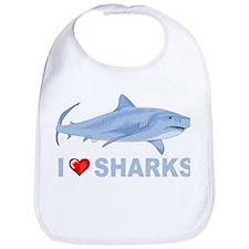 I Love Sharks Bib