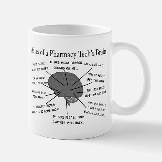Atlas of a pharmacy techs brain.PNG Mugs