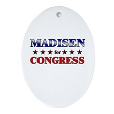 MADISEN for congress Oval Ornament