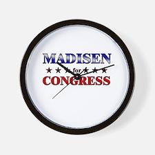 MADISEN for congress Wall Clock