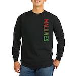 Maldives Stamp Long Sleeve Dark T-Shirt