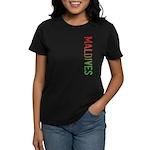 Maldives Stamp Women's Dark T-Shirt