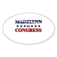 MADELYNN for congress Oval Decal