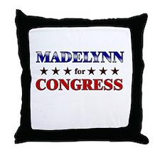 MADELYNN for congress Throw Pillow