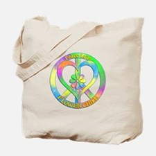 Peace Love Flower Child Tote Bag