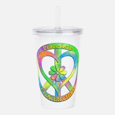 Peace Love Flower Chil Acrylic Double-wall Tumbler