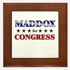 MADDOX for congress Framed Tile