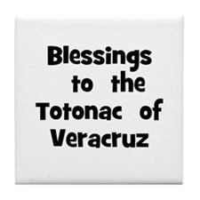 Blessings  to  the  Totonac   Tile Coaster