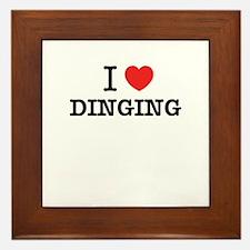 I Love DINGING Framed Tile