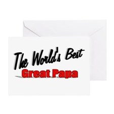 """""""The World's Best Great Papa"""" Greeting Card"""