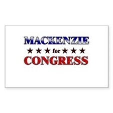 MACKENZIE for congress Rectangle Decal