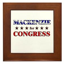 MACKENZIE for congress Framed Tile