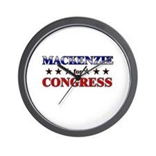 MACKENZIE for congress Wall Clock