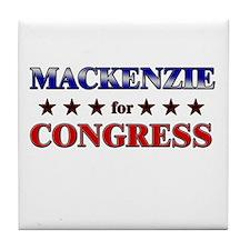 MACKENZIE for congress Tile Coaster