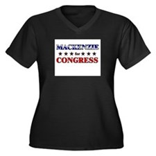 MACKENZIE for congress Women's Plus Size V-Neck Da