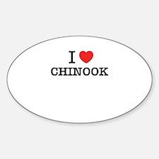 I Love CHINOOK Decal