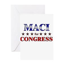 MACI for congress Greeting Card