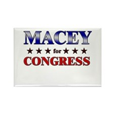 MACEY for congress Rectangle Magnet