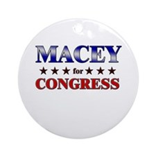 MACEY for congress Ornament (Round)