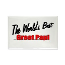 """""""The World's Best Great Papi"""" Rectangle Magnet"""