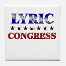 LYRIC for congress Tile Coaster