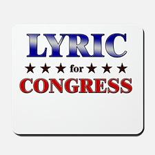 LYRIC for congress Mousepad