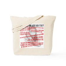 Everything Jesus Said Tote Bag